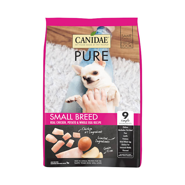 CANIDAE PURE Grain Free Limited Ingredient Small Breed Real Chicken, Potato & Whole Egg Dry Dog Food, 4 lbs. - Carousel image #1