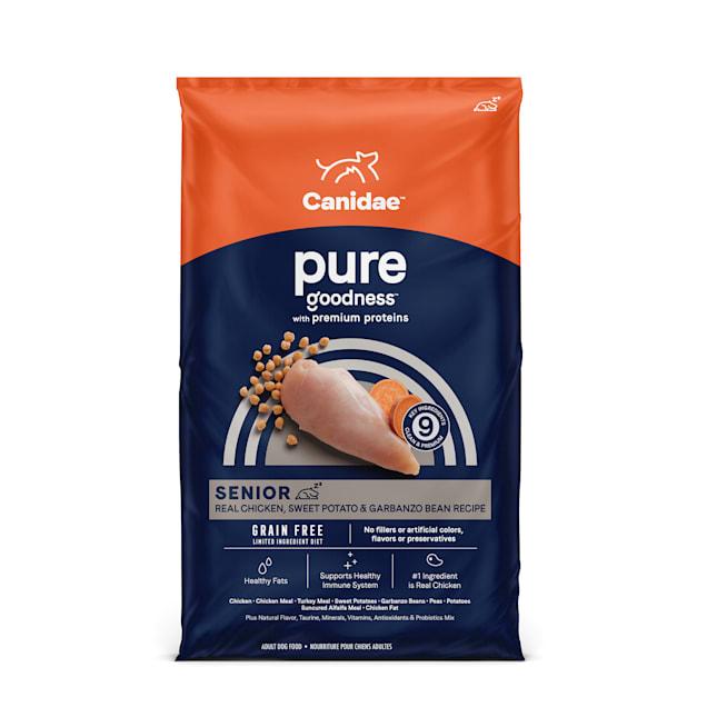 CANIDAE PURE Grain Free Limited Ingredient Senior Real Chicken, Sweet Potato & Garbanzo Bean Dry Dog Food, 4 lbs. - Carousel image #1