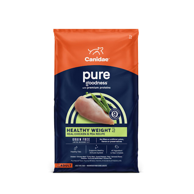 CANIDAE PURE Grain Free Limited Ingredient Healthy Weight Real Chicken & Pea Dry Dog Food, 24 lbs. - Carousel image #1