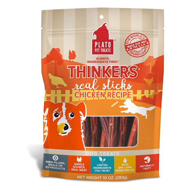 Plato Pet Chicken Thinkers Dog Treats, 10 oz. - Carousel image #1