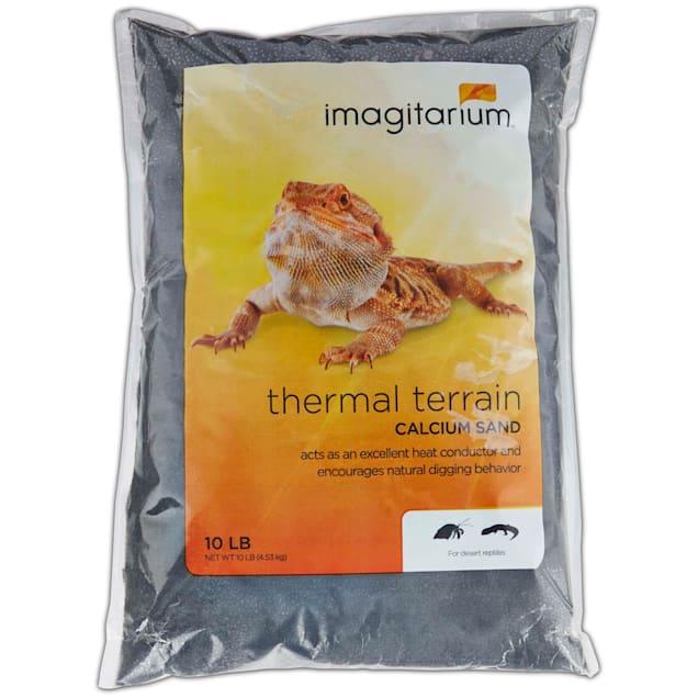 Imagitarium Black Calcium Reptile Sand, 10lb - Carousel image #1