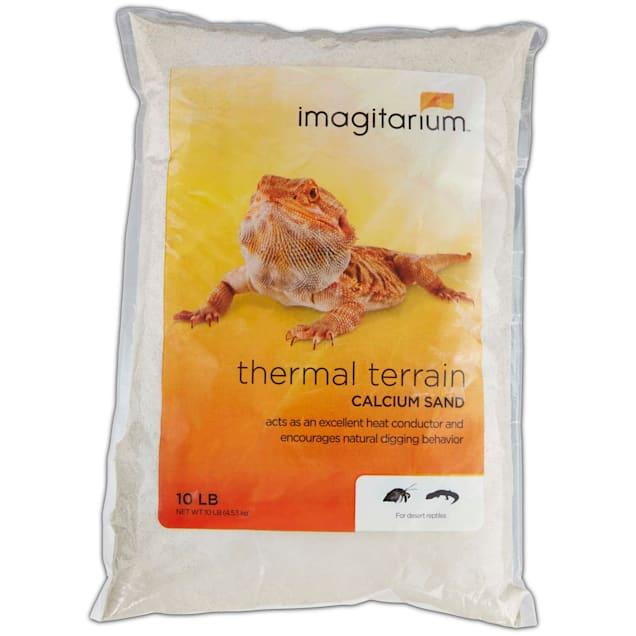Imagitarium White Calcium Reptile Sand, 10lbs - Carousel image #1
