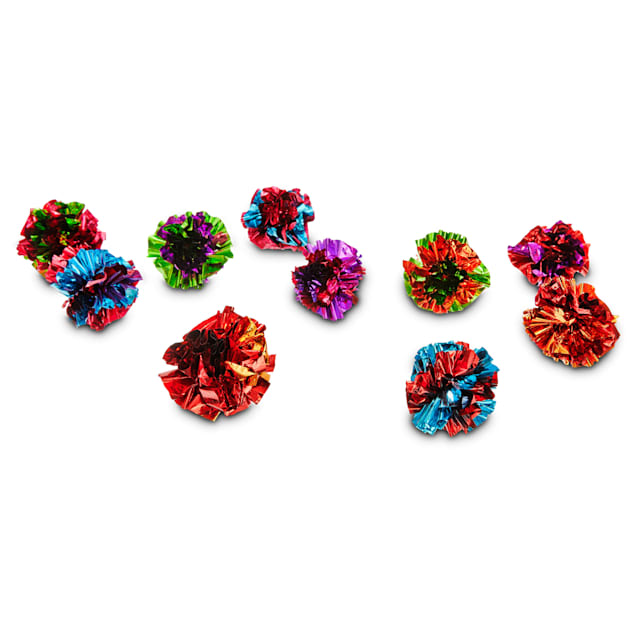 Leaps & Bounds Mylar Balls Cat Toys, Pack of 10 Toys - Carousel image #1