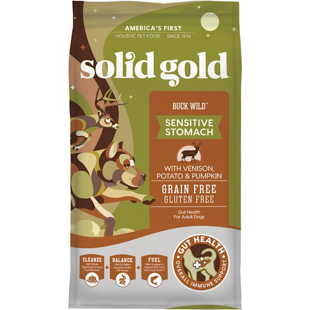 Solid Gold Buck Wild Venison, Potato and Pumpkin Dry Dog Food, 24 lbs. - Carousel image #1