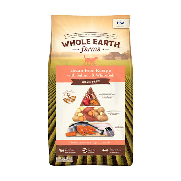 Whole Earth Farms Grain Free Recipe with Salmon & Whitefish Dry Dog Food, 25 lbs. - Carousel image #1