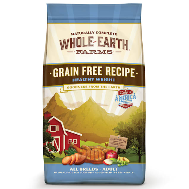 Whole Earth Farms Grain Free Healthy Weight Recipe Dry Dog Food, 12 lbs. - Carousel image #1