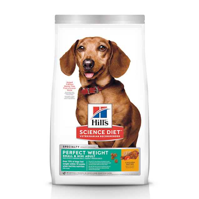 Hill's Science Diet Adult Perfect Weight Small & Mini Chicken Recipe Dry Dog Food, 15 lbs., Bag - Carousel image #1