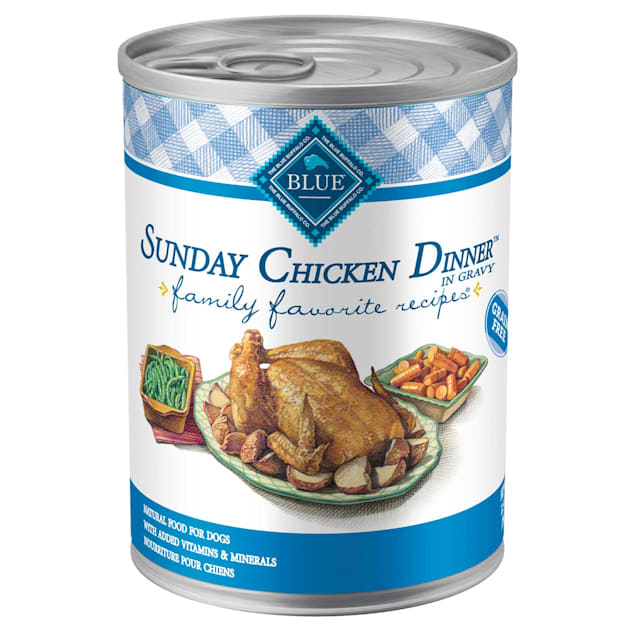 Blue Buffalo Blue Sunday Chicken Dinner Adult Canned Dog Food, 12.5 oz., Case of 12 - Carousel image #1