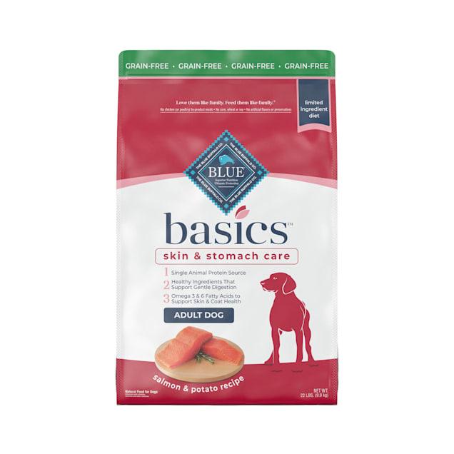 Blue Buffalo Basics Limited Ingredient Diet Natural Adult Grain Free Salmon & Potato Dry Dog Food, 22 lbs. - Carousel image #1