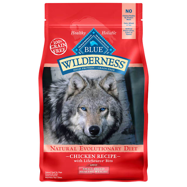 Blue Buffalo Blue Wilderness Grain Free Chicken Small Breed Healthy Weight Adult Dog Food, 4.5 lbs. - Carousel image #1