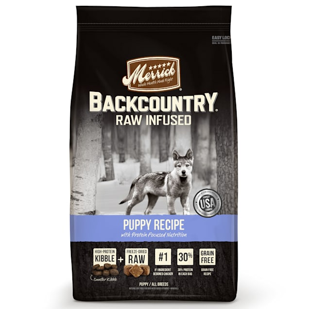 Merrick Backcountry Grain Free Raw Infused Puppy Dry Food, 22 lbs. - Carousel image #1