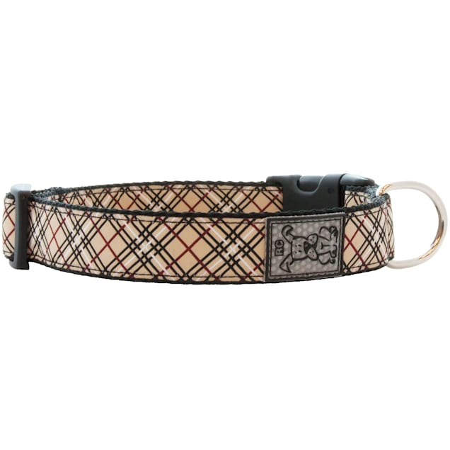 """RC Pet Products Tan Tartan Dog Collar, 15""""-25"""" - Carousel image #1"""