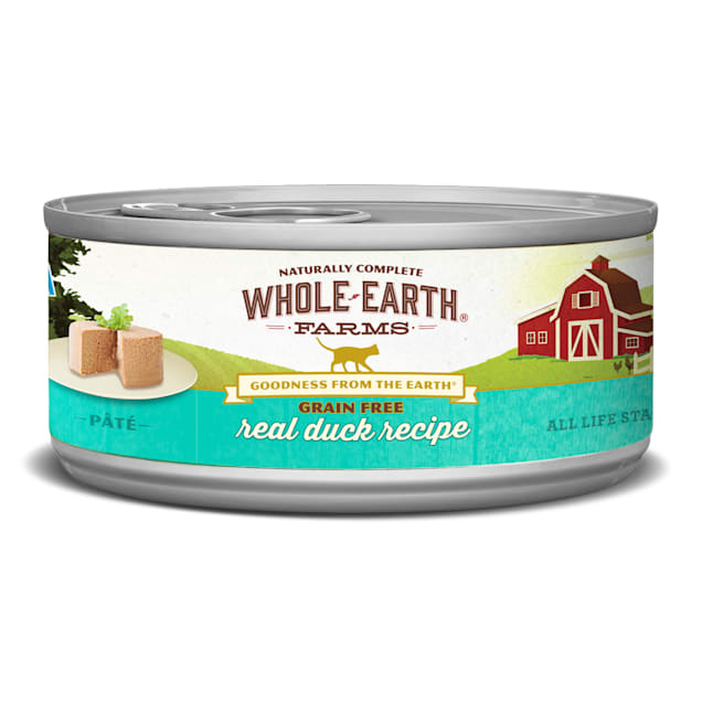 Whole Earth Farms Grain Free Real Duck Canned Cat Food, 5 oz., Case of 24 - Carousel image #1