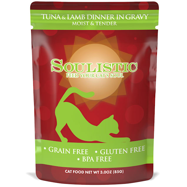 Soulistic Moist & Tender Tuna & Lamb Dinner in Gravy Wet Cat Food, 3 oz., Case of 8 - Carousel image #1