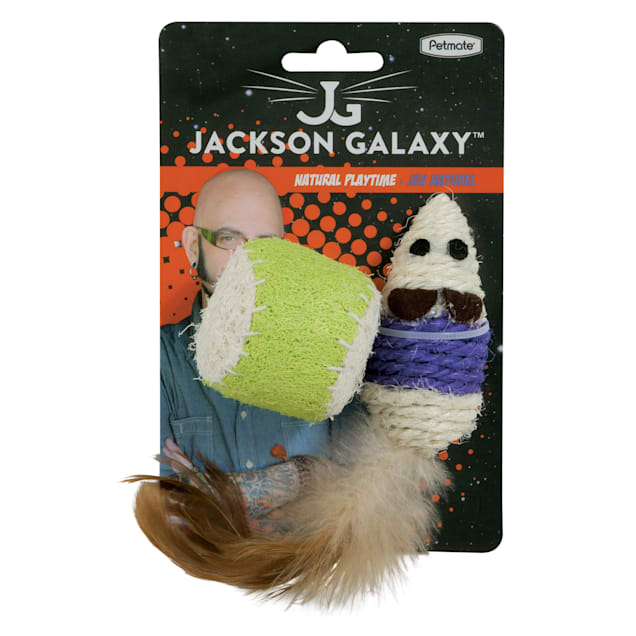 Jackson Galaxy Natural Playtime Assorted Mouse & Ball Cat Toys, Small - Carousel image #1