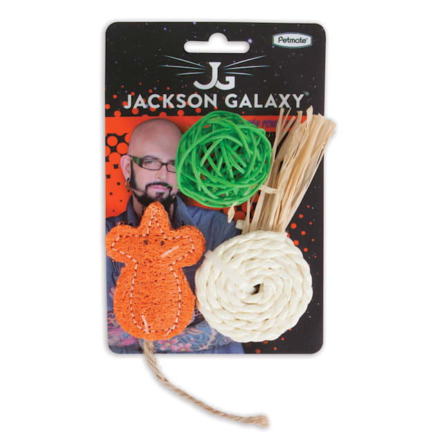 Jackson Galaxy Natural Play Time Cat Toys, Small, Pack of 3 - Carousel image #1