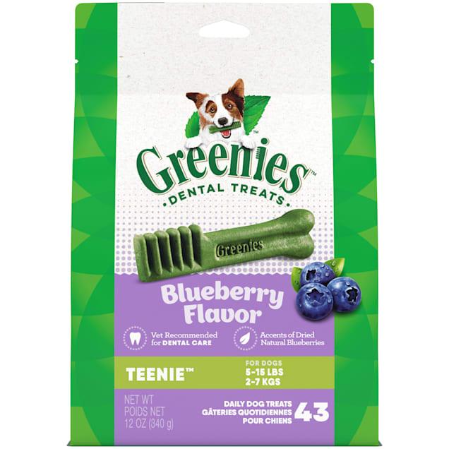 Greenies Blueberry Flavor Teenie Dog Dental Chews, 12 oz., Count of 43 - Carousel image #1