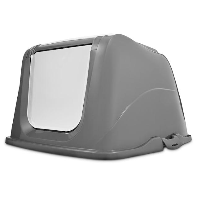 So Phresh Flip Top Cat Litter Box Hood in Grey, X-Large - Carousel image #1