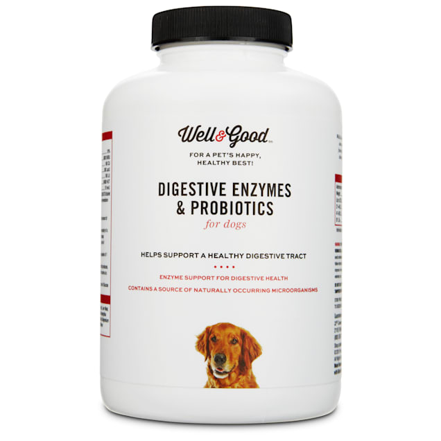 Well & Good Digestive Enzymes & Probiotics Chewable Dog Tablets, 9.5 oz., Count of 90 - Carousel image #1