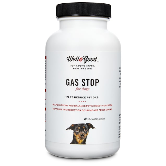 Well & Good Gas Stop Dog Tablets, 60 count - Carousel image #1