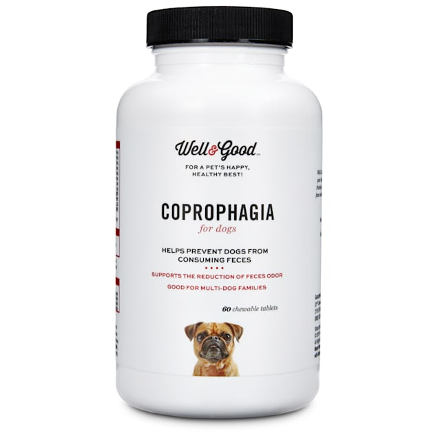 Well & Good Coprophagia Dog Tablets, 120 count - Carousel image #1