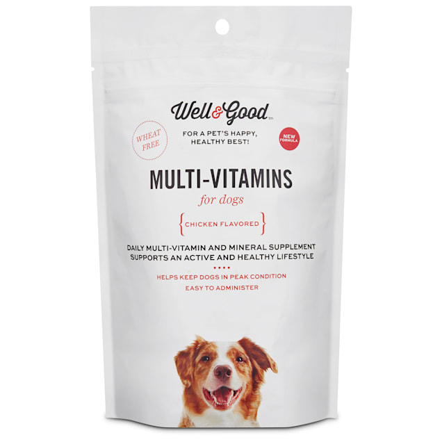 Well & Good Chicken-Flavored Daily Multivitamins for Adult Dogs, Count of 60 - Carousel image #1