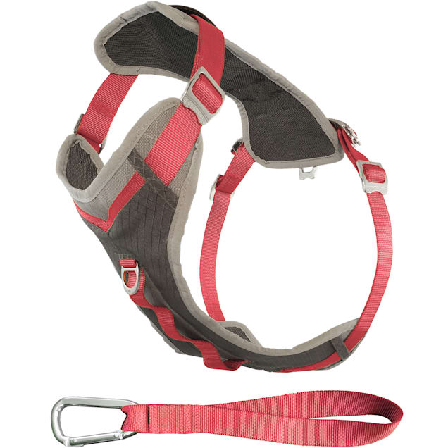 Kurgo Gray & Pink Journey Dog Harness, Large - Carousel image #1