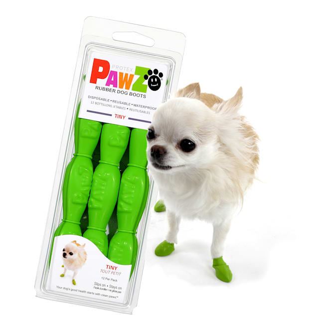 PAWZ Rubber Dog Boots, 3X-Small - Carousel image #1