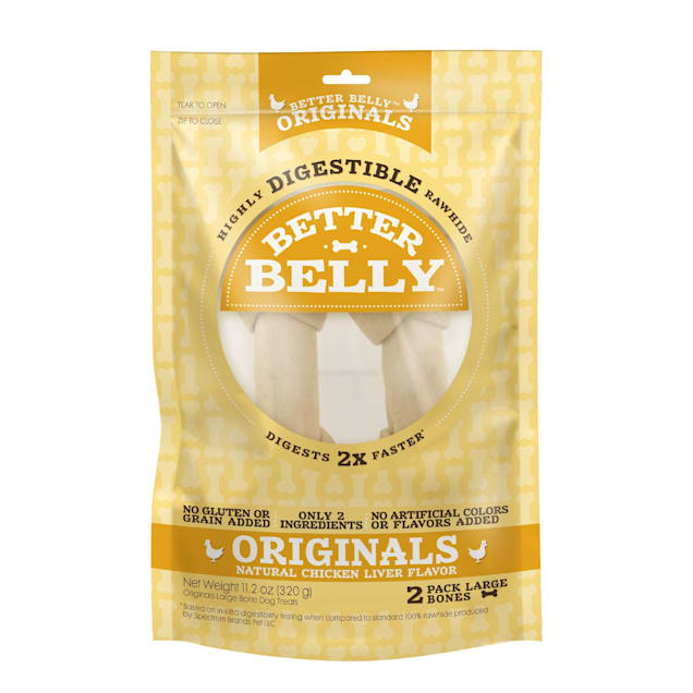 Better Belly Chicken Rawhide Large Dog Chews - Carousel image #1