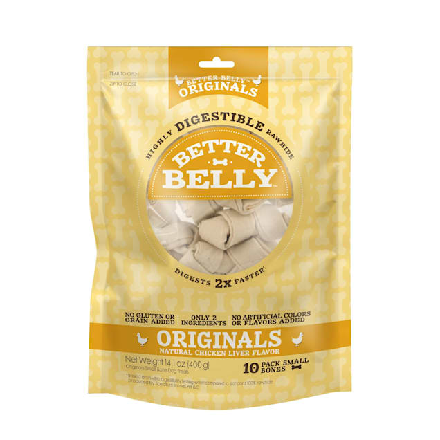 Better Belly Chicken Rawhide Small Dog Chews - Carousel image #1