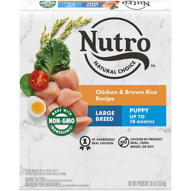 Nutro Natural Choice Chicken & Brown Rice Recipe Large Breed Puppy Dry Dog Food, 30 lbs. - Carousel image #1