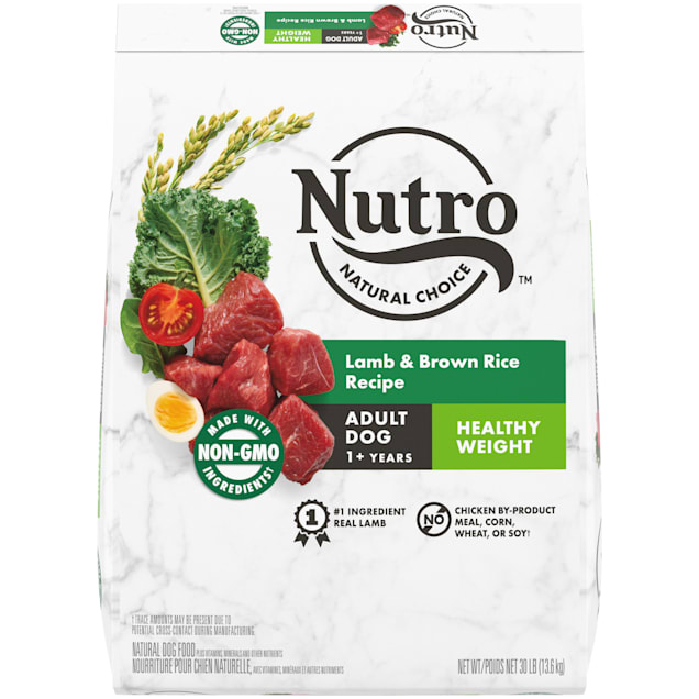 Nutro Wholesome Essentials Lamb & Brown Rice Recipe Healthy Weight Adult Dry Dog Food, 30 lbs. - Carousel image #1
