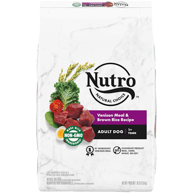 Nutro Natural Choice Vension Meal & Brown Rice Recipe Adult Dry Dog Food, 30 lbs. - Carousel image #1