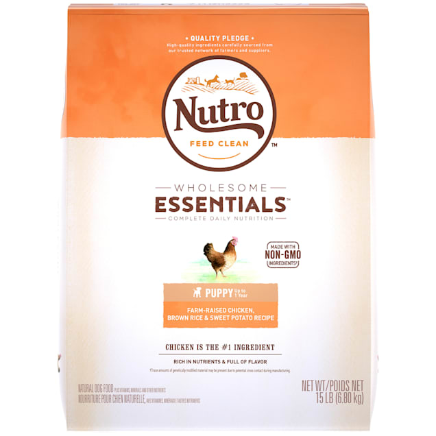 Nutro Wholesome Essentials Farm-Raised Chicken, Brown Rice & Sweet Potato Recipe Dry Puppy Food, 15 lbs. Bag - Carousel image #1