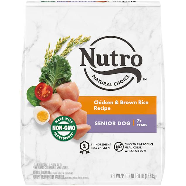 Nutro Natural Choice Chicken & Brown Rice Recipe Senior Dry Dog Food, 30 lbs. - Carousel image #1