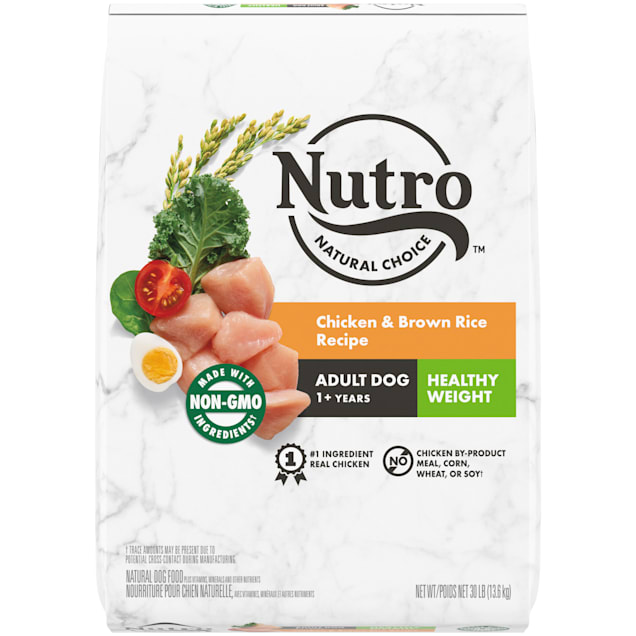 Nutro Wholesome Essentials Healthy Weight Farm-Raised Chicken, Brown Rice & Sweet Potato Recipe Dry Adult Dog Food, 30 lbs. - Carousel image #1