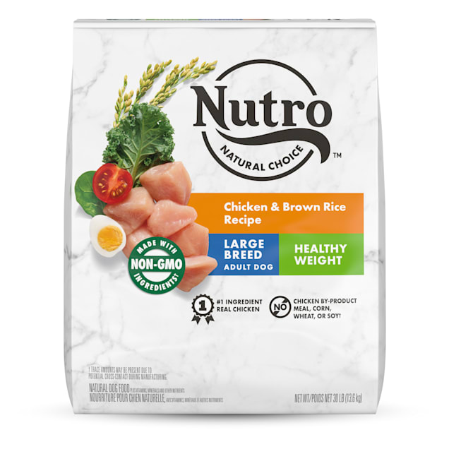 Nutro Natural Choice Chicken & Brown Rice Recipe Healthy Weight Large Breed Adult Dry Dog Food, 30 lbs. - Carousel image #1