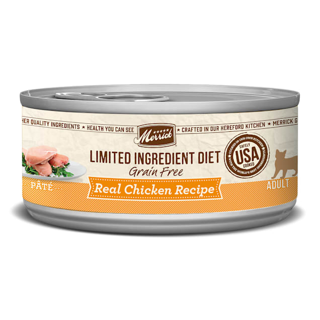 Merrick Limited Ingredient Diet Grain Free Chicken Canned Cat Food, 5 oz., Case of 24 - Carousel image #1