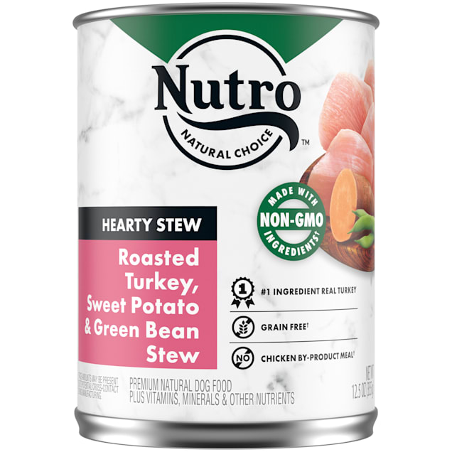 Nutro Cuts in Gravy Roasted Turkey, Sweet Potato & Green Bean Hearty Stew Adult Canned Wet Dog Food, 12.5 oz., Case of 12 - Carousel image #1