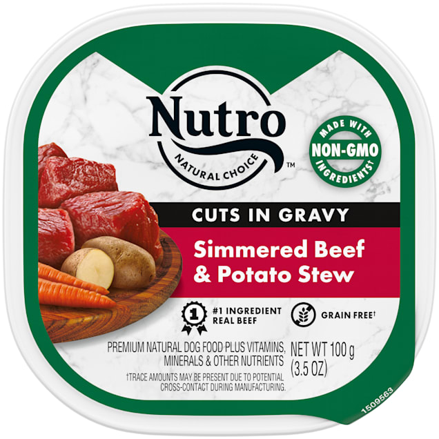 Nutro Grain Free Cuts in Gravy Simmered Beef & Potato Stew Wet Dog Food, 3.5 oz., Case of 24 - Carousel image #1
