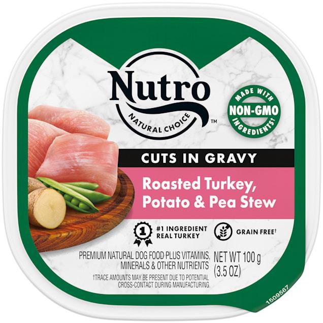 Nutro Grain Free Cuts in Gravy Roasted Turkey, Potato & Pea Stew Wet Dog Food, 3.5 oz., Case of 24 - Carousel image #1