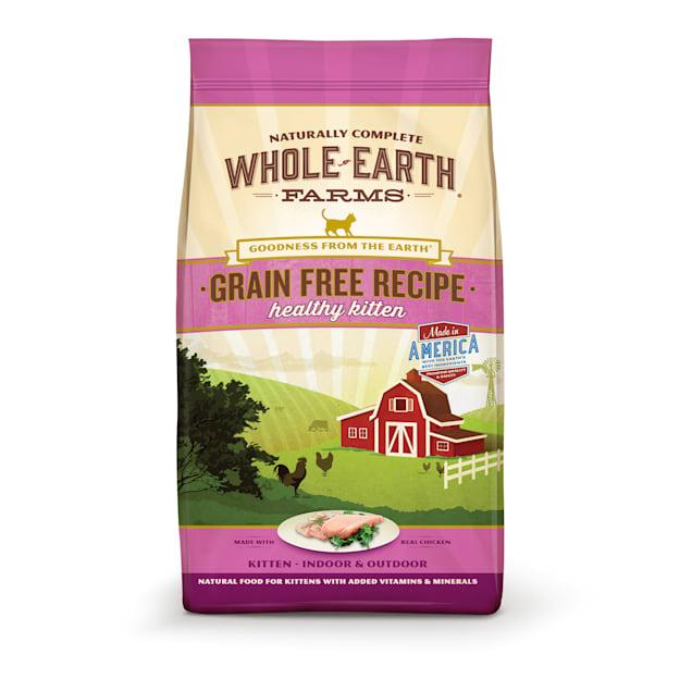 Whole Earth Farms Grain Free Real Chicken Kitten Food, 10 lbs. - Carousel image #1