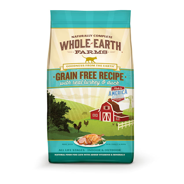 Whole Earth Farms Grain Free Real Turkey & Duck Cat Food, 10 lbs. - Carousel image #1