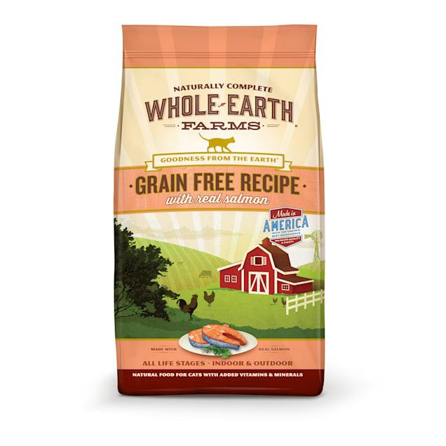 Whole Earth Farms Grain Free Real Salmon Cat Food, 10 lbs. - Carousel image #1