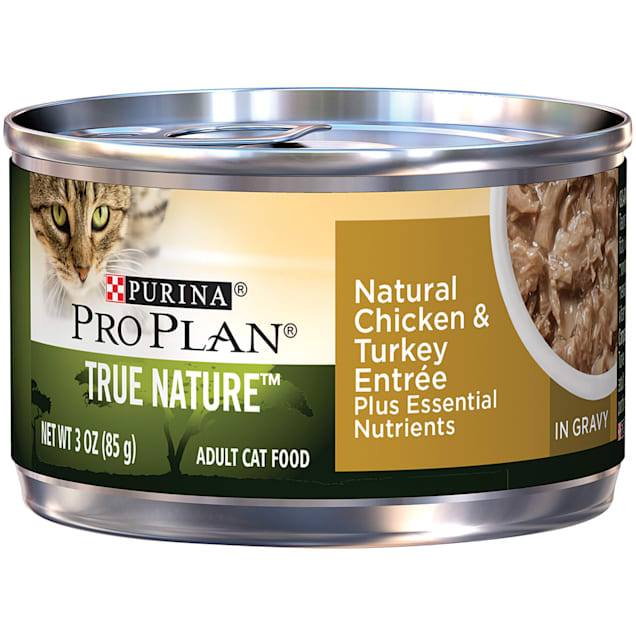 Purina Pro Plan True Nature Chicken & Turkey Adult Canned Cat Food, 3 oz., Case of 24 - Carousel image #1