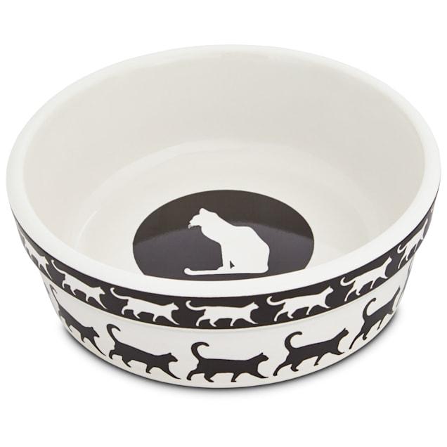 "Harmony Catwalk Ceramic Cat Bowl, 1.75"" H X 5"" Diameter, 1 Cup - Carousel image #1"