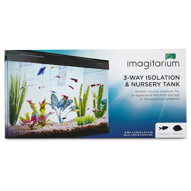 "Imagitarium Isolation & Breeder Fish Tank, 8.4"" L X 3.7"" H X 3.7"" Diameter - Carousel image #1"