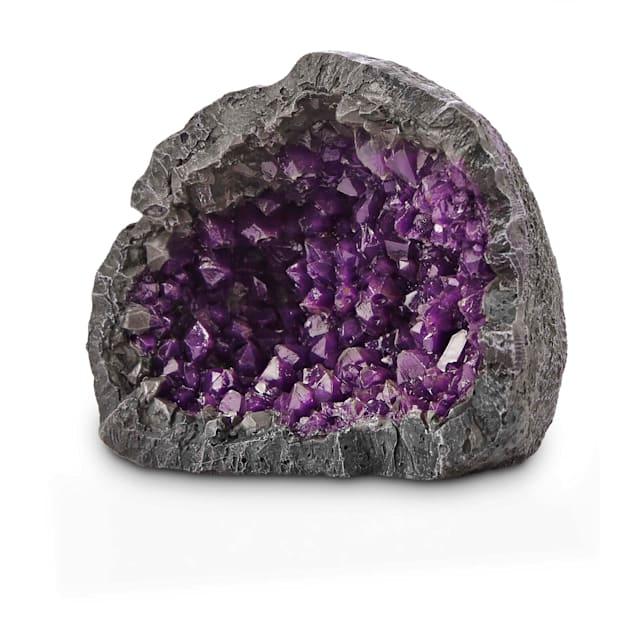 Imagitarium Purple Geode Aquarium Decor - Carousel image #1