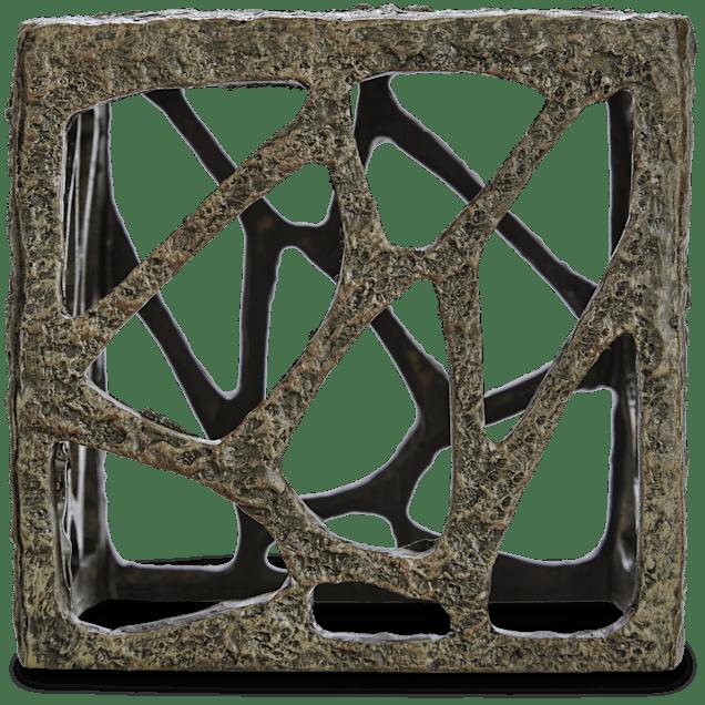 Imagitarium Resin Rustic Cube Aquatic Decor - Carousel image #1