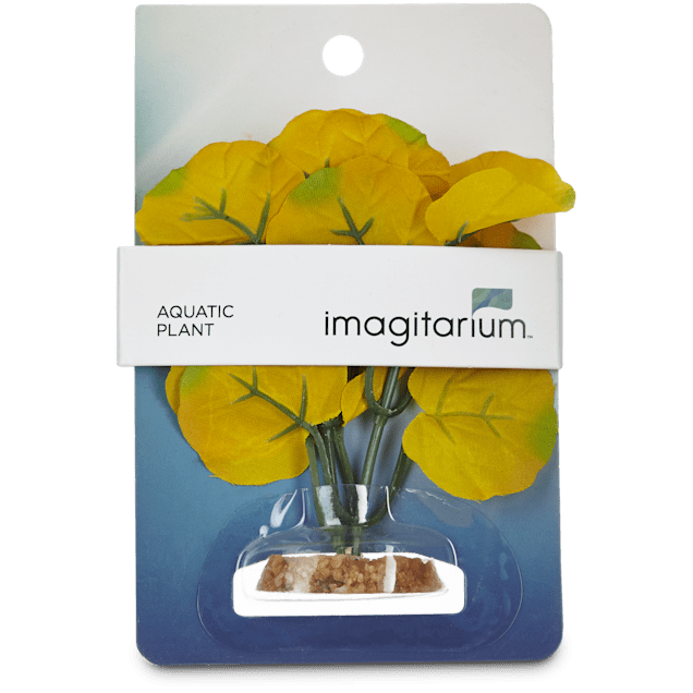 Imagitarium Small Yellow Summer Silk Plants Aquatic Decor - Carousel image #1